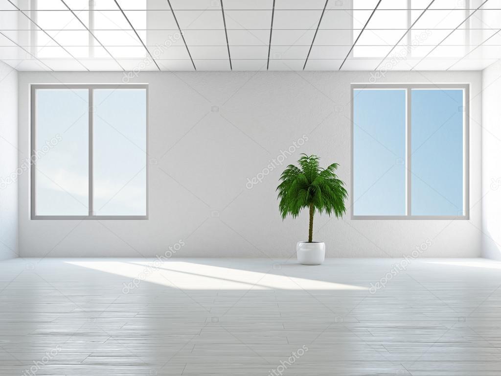 空房间,大全景窗口– 图库图片