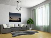 Soggiorno con divano — Foto Stock