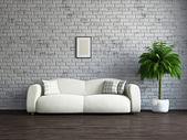Allrum med soffa — Stockfoto
