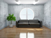 Old room with sofa — Stock Photo