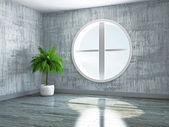 Stanza vuota con windows — Foto Stock