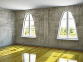 The empty room with old wall — Stock Photo
