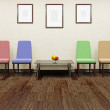 Color chairs — Stock Photo