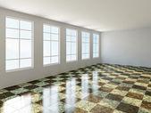 The big room with window — Stockfoto