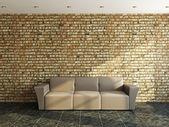 Sofa near a old wall — Stock Photo