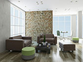 Sala de estar con muebles — Foto de Stock