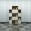 Cabinet with books — 图库照片
