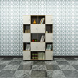 Cabinet with books — ストック写真