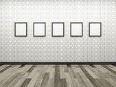 Cuadros en blanco en la pared — Foto de Stock