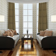 Two sofas and table — Stock Photo
