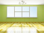 The big empty room — Stock Photo