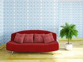 Sofa with pillows — Stock Photo