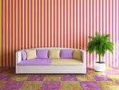 диван с подушками — Стоковое фото
