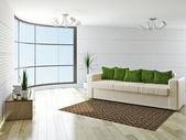 Sofá con cojines verdes — Foto de Stock