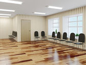 The hall with chairs — Stock Photo