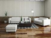 Sofa und Sessel — Stockfoto