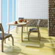 Table and chairs  — Stock Photo
