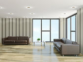 The hall with sofas — Foto de Stock
