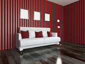 White sofa — Stockfoto