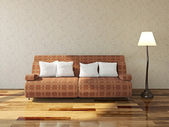 Sofa with cushions — Stock fotografie