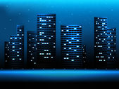 Night city landscape  — Stock Vector