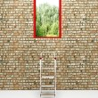 Exit in a brick wall — Stock Photo #44913933