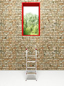 Exit in a brick wall — Photo