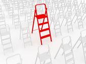 Escada vermelha — Foto Stock