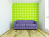 Sofa with cushions — Stock Photo