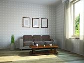 Wohnzimmer mit möbeln — Stockfoto