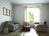Livingroom with furniture  — Stock Photo