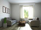 Vardagsrum med möbler — Stockfoto