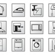 Icons of household appliances — Stock Vector