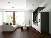 Livingroom with furniture — Stockfoto