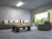 Sofá y sillón — Foto de Stock