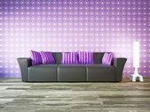 Sofa near the wall — Stock Photo