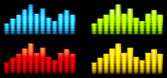 Colored equalizer  — Vector de stock
