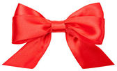 Beautiful red bow isolated on white background — Stock Photo