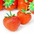 Fresh tasty strawberries isolated on white background — Stock Photo
