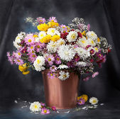 Autumn bouquet flower. Beautiful still life — Foto de Stock