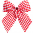 Stock Photo: Beautiful red bow on white