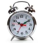 Classic alarm clock isolated on white — Stock Photo