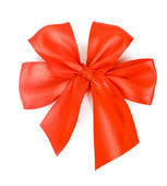 Red bow isolated over white background — Foto Stock