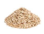 Oat flakes isolated on white background. Healthy eating — Stock Photo