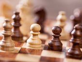 Concept of confrontation and fight enemies. Chess — Stock Photo