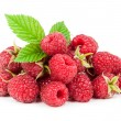 Delicious raspberry isolated on white background — Stock Photo