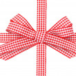 Beautiful red bow  — Stock Photo