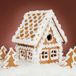 Homemade gingerbread house — Stock Photo #36989905