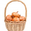 Onion in the basket — Stock Photo