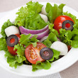 Dietetic food - fresh salad in plate on table — Stock Photo #36990169